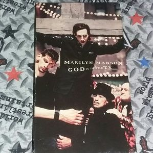 1999 Marilyn Manson God is in the TV 90s VHS Metal